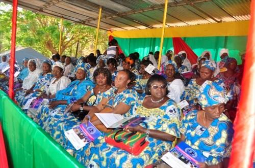 Photos Ouaga.com La cérémonie officielle de la celebration a regroupé les différentes représentantes de femmes.