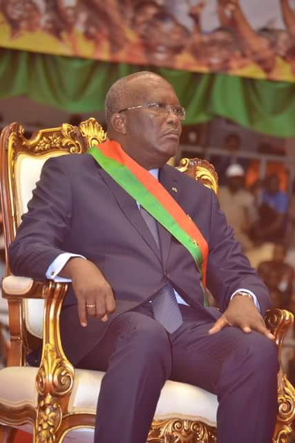 Photo Facebook  Le président Roch Marc Christian Kaboré à son investiture